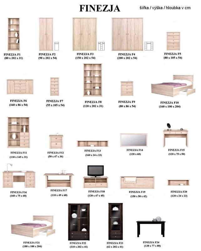 Ložnice Finezja 2 - Nebe nábytek